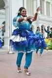 印地安舞蹈家在Istana,新加坡执行 库存图片