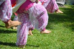 印地安舞蹈家脚 免版税图库摄影