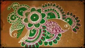 印地安节日艺术Rangoli 免版税库存照片