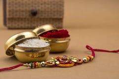 印地安节日:Raksha Bandhan, Rakhi 免版税图库摄影