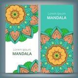 印地安花卉佩兹利大奖章横幅 种族坛场装饰品 能为纺织品,贺卡,彩图使用 库存图片