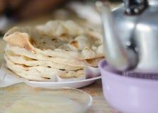 印地安薄煎饼面包或roti   免版税库存图片