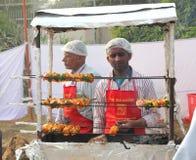 印地安街道食品厂家 免版税库存照片