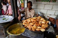 印地安街道餐馆 免版税库存照片