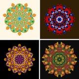 印地安装饰品,万花筒花卉样式, 免版税图库摄影