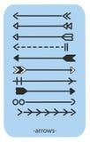 印地安语传染媒介的箭头 库存照片