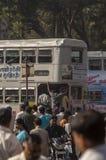 印地安通勤者早晨在维多利亚终点附近 免版税库存图片
