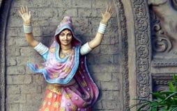 印地安部族Lambada舞蹈家墙壁艺术 库存照片