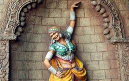 印地安部族Lambada舞蹈家墙壁艺术 库存图片