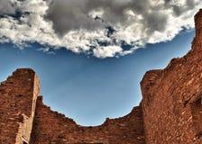 印地安镇废墟在新墨西哥 免版税图库摄影