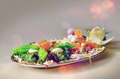 印地安食物沙拉 免版税库存图片