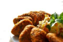 印地安食物炸肉排 免版税库存图片