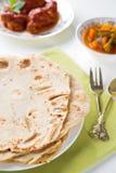 印地安食物薄饼 免版税库存照片