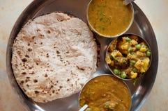 印地安食物薄饼roti 库存照片