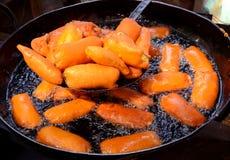 印地安食物BAJJI 免版税库存照片