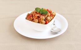 印地安食物Channa闲谈或鸡豆咖喱 图库摄影