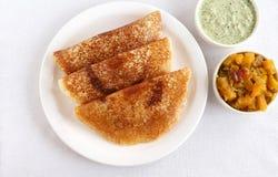 印地安食物Masala Dosa 免版税库存图片