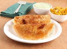 印地安食物Masala Dosa 库存图片