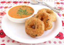 印地安食物Medu Vada 免版税库存图片