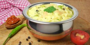 印地安食物Pongal 免版税图库摄影