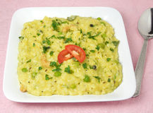 印地安食物Pongal 库存图片