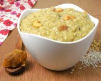 印地安食物Pongal 库存照片