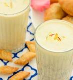 印地安饮料Thandai 免版税库存图片