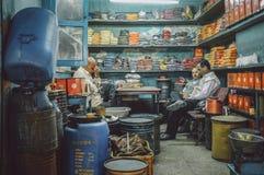 印地安香料商店 库存照片