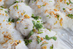 印地安鲜美街道食物达西酸奶Vada 免版税图库摄影