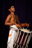 印地安鼓手,喀拉拉,南印度 免版税库存图片