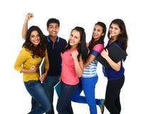 年轻印地安/亚洲小组画象  免版税库存照片