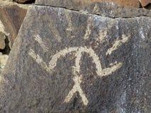 印地安刻在岩石上的文字在东华盛顿 库存照片
