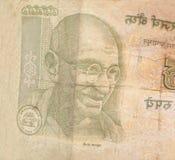 印地安货币卢比笔记 库存图片
