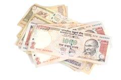 印地安货币卢比钞票 免版税库存照片
