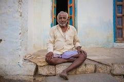 印地安年长人 库存图片