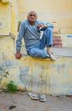 印地安年长人 免版税库存图片