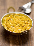 印地安素食圆白菜thoran 免版税库存照片