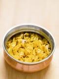 印地安素食圆白菜thoran 库存图片