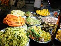 印地安素食摊位 免版税库存图片