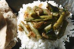 印地安素食蚕豆油炸物 库存图片