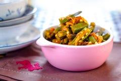 印地安bhindi masala 库存照片