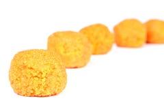 印地安ladoo甜点 库存图片
