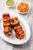 印地安paneer烤肉或tikka 库存图片