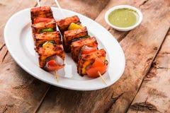 印地安paneer烤肉或tikka 免版税库存照片