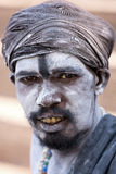 印地安sadhu (圣洁者)。瓦腊纳西,北方邦,印度。 免版税库存照片