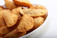 印地安tradiional快餐gujiya 库存照片