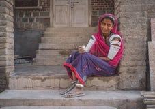 印地安tribeswoman 免版税图库摄影