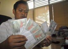 印尼盾六年低下落 库存照片