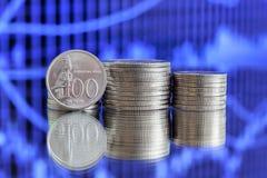 100印尼盾硬币 免版税图库摄影
