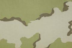 印度三颜色沙漠伪装织品纹理 库存图片